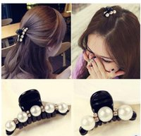 Wholesale Pretty New Fashion Pearl crystal Hairpin Rhinestone hair barrette clip women hair accessory
