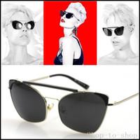 parte superior plana gafas de sol de los hombres de la marca G ojo de gato lentes de sol reflectantes de las nuevas del metal de los vidrios de las mujeres del partido de la moda gafas de sol oculos