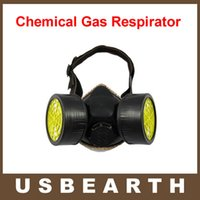 Cheap Anti Dust Paint Double Gas Mask protection filter Chemical Gas Respirator Face Mask
