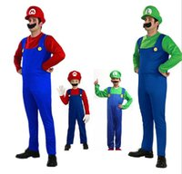 Wholesale Fashion Funny Halloween costume costume role playing Mario Super Mario Louis adult cartoon party dress mascot