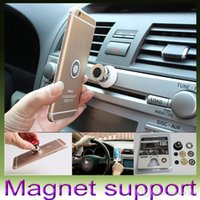 Wholesale Magnet Car Holder For Iphone Accessories GPS Cradle Kit For Samsung Stand Display Support Magnetic Smart Mobile Phone Car Holder