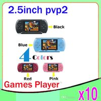 Wholesale DHL PVP2 Game Player inch screen Games Console BIT AV output Multi Colors ZY PVP2