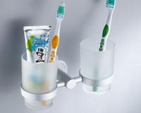 aluminium bathroom accessories - Space aluminium Made Double Tumbler Holder Toothbrush Holder Bathroom Accessories