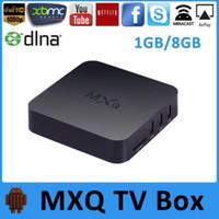 Wholesale MXQ TV BOX MX XBMC Amlogic S805 Quad Core IPTV Android Kitkat GB GB WIFI Airplay Miracast Set Top Box