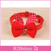 Wholesale Dog and Cat Collars PU Leather Adjustable New Pet Collars Necklace