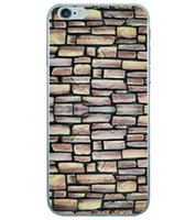 Cheap Brick Wall Marble Stone Wood Soft TPU Silicone Case For Iphone 6 6S 4.7 Plus 5 5S Fashion Sea Wooden Annual Ring Colorful Cover Back Skin