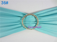 band tnt - 100 TNT finished edge Tiffany spandex lycra chair bands elastic chair sash with rhinestone buckle for wedding