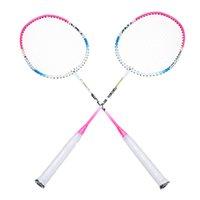 Wholesale Carbon Fiber Aluminum Alloy Elastic Badminton Racquet with Carry Bag Best Price Sports Training Badminton Rackets