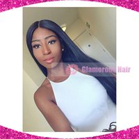 best hairline - Best Quality x4 Virgin Brazilian Silk Base Wigs Glueless Straight Silk Top Lace Front Wig with Natural Hairline For Black Women
