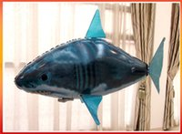 Wholesale Hot air swimming Drone remote control flying shark helium inflatable toys