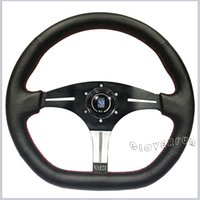 Wholesale Stylish Textured BK Nar di quot MM Real Leather Racing Steering Wheel