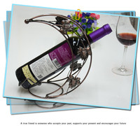 wine bottle holder - Wine Holder Metal Luxury Little Moon Ship Wine Bottle Holders Racks With Iron For Sale