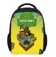Wholesale The children like Hot selling Style polyester Minecraft cm backpack school bag best gift for children