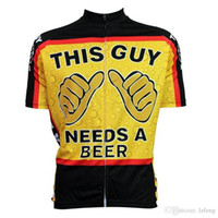 Wholesale 2015 Newest Carton cycling tops short sleeves this guy shirts size XS XL cycling jersey tops