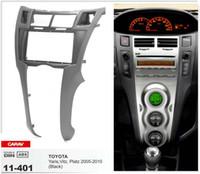 Wholesale CARAV CAR Radio Fascia for TOYOTA Yaris Vitz Platz Black Stereo Panel Facia Plate Dash Trim Kit