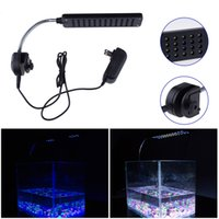 Wholesale Safe W Aquarium led Fish Tank LED Clip Light Lighting Lamp Modes Blue B W Color high quality L0363
