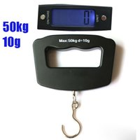 Wholesale 50kg g LCD Digital Portable Electronic Lage Weighter Hook Hanging Scale with retail box arz5