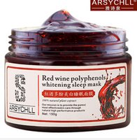 antioxidant skin products - 2015 Red Wine Polyphenols Face Mask Moisturizing Antioxidant Anti Aging Spot Skin Care Products Disposable Whitening Facial Mask DHL YSQ HJ