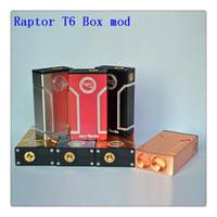 aluminum dual battery box - New Design Raptor T6 Box mod Huge Vapor Raptor mod for dual battery Aluminum Mech Mod fit RDA Atomizers DHL Free