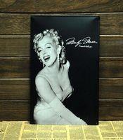 Cheap 30pcs lot Metal Sign shabby chic Wholesale Marilyn Monroe Tin Signs Art wall decor House Bar Cafe Retro Metal Paintings C-05 mix