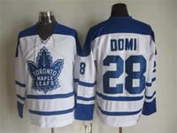 Wholesale Discount Toronto Maple Leafs Ice Hockey jersey Phaneuf Gilmour Domi Sittler Clark Keon Sundin Horton Jerseys Embroidery logos