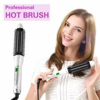 Wholesale Professional Hair Curler Iron Brush Combs Automatic Hair Styler Curling Iron Roller With Clips Styling Tool LCD Display temperature Control