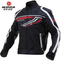 leather motorcycle racing jackets - 2015 new SCOYCO motorcycle jersey jacket JK37 leather racing suit jackets motorcycle clothing DROP Includes protective gear M L XL XXL XXXL