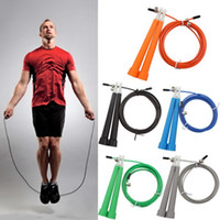 Wholesale 10Pcs Adjustable M Fitness Crossfit Skipping Rope Speed Jump Rope Gym Training Sports Exercise