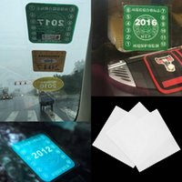 annual inspection - 3pcs set Car Styling Annual Review logo Static Stickers Before The File Logo Environmentally Friendly Annual Inspection Stickers