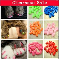 Wholesale Colorful Pet Nail Sets Cat Armor Products dog nail sets catlike sets the cat claw set Send glue