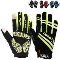 Wholesale Brand New GEL Full Finger Men Cycling Gloves mtb bike gloves bicycle ciclismo racing sport breathable thick shockproof