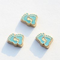 baby foot - blue baby feet charms floating charms for living locket