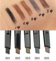 Wholesale Freeshipping New women eyebrow pencil With Stencils waterproof makeup for eyebrows make up Colors brow pencil