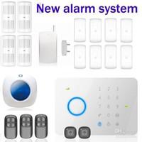 Wholesale Original Chuango G5 MHZ GSM SMS Quad band touch keypad Security Alarm System PIR DWC RFID RC WI WS by DHL