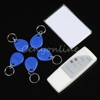 Wholesale 5pcs bag High Quality Portable KHz RFID ID Card Handheld Copier Writer Duplicator with Writable Keyfobs Tags and Cards