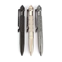 Wholesale 2014 New Gold Black Grey Multipurpose Aluminum Tactical Pen Emergency Glass Breaker Tool To Better