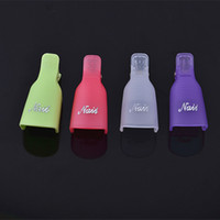 Wholesale Any Colors New Fashion Hot Plastic Nail Art Soak Off Cap Clip UV Gel Polish Remover Wrap Tool Gofuly