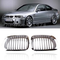 Wholesale New x Chrome Front Kidney Grille Grills For BMW Series E46 M3 Door Left Right Silver order lt no track