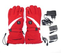 Wholesale Electric Heated Ski Gloves Thermal Winter Sports Heating Gauntlets with Batteries and Charger