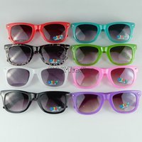 glass toys - 2015 Updated Colorful Candy Kids Sunglasses Classic Children Sun Glasses Mixed Colors Free Shipment