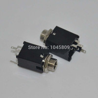 Wholesale 50PCS mm black Mono Jack Socket Audio Jack for guitar pedal amp diy Solder Lug