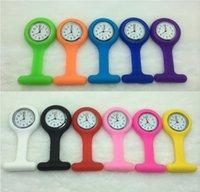 Wholesale Fashion Silicone Nurses Brooch Tunic Fob Watch Colorful