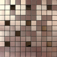 art deco tiles - Aluminium mosaic tiles square wall cladding tiles wall mounted mesh home decoration art deco mosaico wall tiles backsplash tile for back