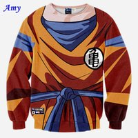 amy balls - w20151223 Amy Harajuku classic anime cartoon dragon ball z goku d print sweatshirt women men autumn hoodies GUGU76