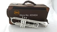 Wholesale American Bach Original authentic Double silver plated AB190S Bb Artisan Collection trumpet Top musical instruments Brass bugle
