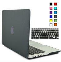 laptop protective film - Rubberized Hard Matte Protective Case for Macbook Pro Retina inch caso Keyboard cover Film para portatil laptop cases