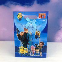 Wholesale Hot Sales Festival theme Minions cartoon printing hand bag fashion paper gift bag shopping Christmas gift bags Styles