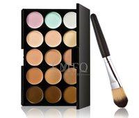 Wholesale 2015 professional New Colors Concealer Palette Contour Face Cream Makeup Camouflage Concealer Palette Powder Brush