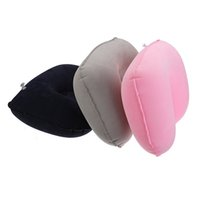 automotive air dryer - Portable Air Inflated U Shaped Headrest Comfortable business trip Travel Automotive Sleeping Neck Pillow Soft Nursing Cushion order lt no tr