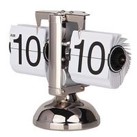 alarms technology - 2015 Newest Design Creative Technology Decoration Automatic Balance Desk Flip Clocks For Home Decor Novelty Retro Table Clocks